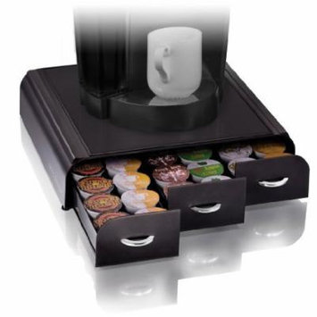 Anchor Coffee Pod Storage Drawer for 36 Keurig K-Cup, Black by Mind Reader