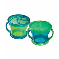 Munchkin Snack Catcher Snack Dispenser 2-Pack - green, one size