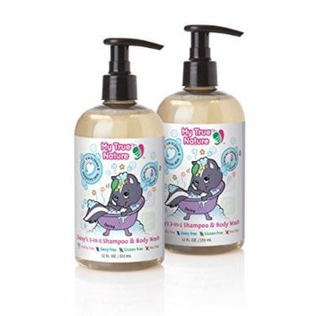 My True Nature Daisy's 2-in-1 Shampoo/Body Wash, Lavender Scent, 12 Ounce, 2 Count
