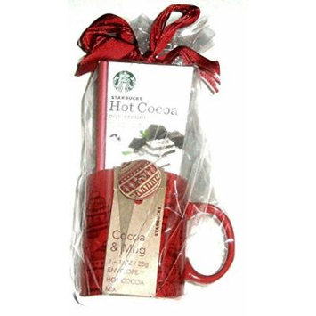 Starbucks Hot Cocoa Mug and Double Chocolate Packet of Cocoa 1 0z.