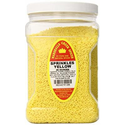 Marshalls Creek Spices Family Size Sprinkles, Yellow, 48 Ounce