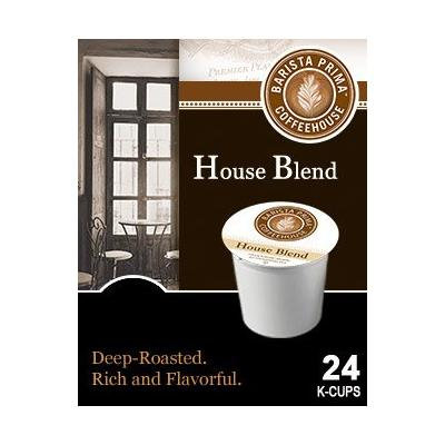 Barista Prima Coffeehouse HOUSE BLEND & FRENCH ROAST Variety Pack 48 K-Cups for Keurig Brewers