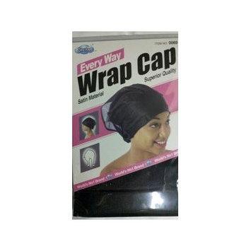 Dream, Every Way WRAP CAP, Satin Material, Color BLACK (Item #0069)