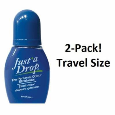 Just a Drop (R) - America's Favorite Bathroom Odor Eliminator - Travel Size 6 ml / 200+ Uses / Eucalyptus Scent - 2-Pack!