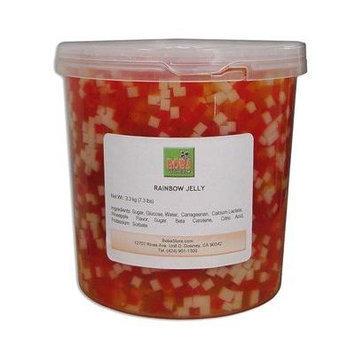 Bubble Boba Tea Rainbow Jelly, 7.3 Lbs (3.3kg) JAR