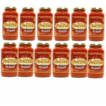 Vincents Pasta Sauce From the Heart of Little Italy NYC - 25 Ounce One Case (Fra Diavolo)