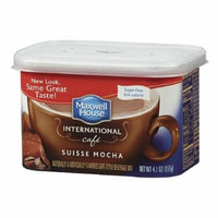 Maxwell House International Cafe Style Beverage Mix, Sugar Free, Swiss Mocha Cafe 4.1 oz(pack of 2)