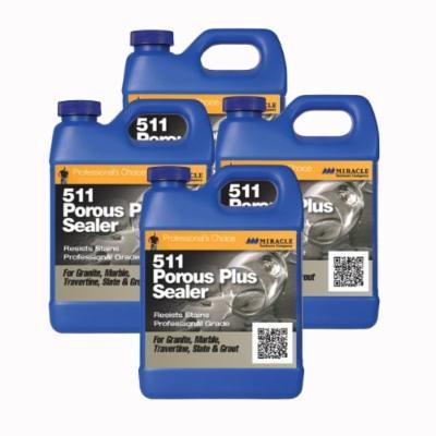 Miracle Sealants - 511 Porous Plus Penetrating Sealer 4 Quarts = 1 Gallon