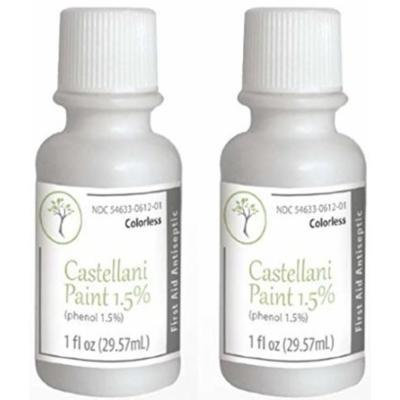 Castellani Paint Phenol 1.5 Percent Modified Colorless First Aid Antiseptic Agent - 1 Oz (Pack of 2)