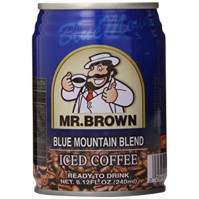 Mr. Brown Iced Coffee, Blue Mountain, 8.12 Ounce (Pack of 24)
