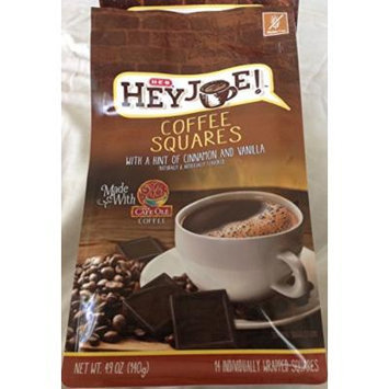 Cafe Ole HEY JOE COFFEE SQUARES with a Hint of Cinnamon and Vanilla 140 Grams (Pack of 2)