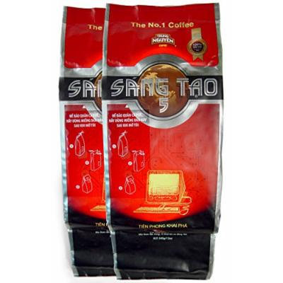 Creative 5 Trung Nguyen Ground Coffee, 12 Ounce (2 BAGS)