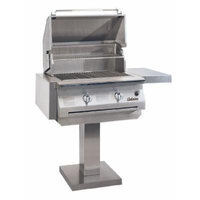 Solaire 30-Inch InfraVection Propane Bolt-Down Post Grill, Stainless Steel