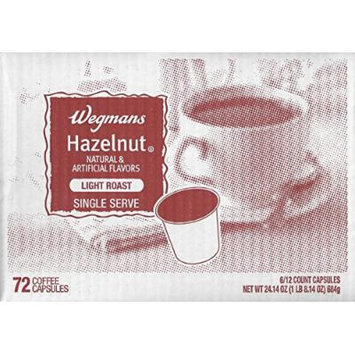 Wegman's Single Serve Coffee Capsules Case of 72 (Hazelnut)