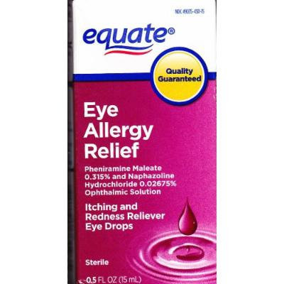 Eye Allergy Relief, 0.5 fl oz, Itching and Redness Reliever, By Equate
