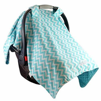 Blue Baby Bum Multipurpose Car Seat Canopy, Zig Zag, Aqua