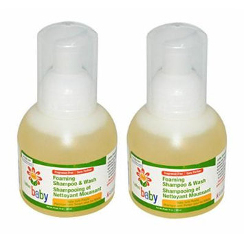 Lafes Baby Foaming Shampoo and Wash, Fragrance Free, 2 Pack
