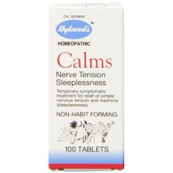 Hyland's Homeopathic Calms Nerve Tension Sleeplessness Temporary Symptomatic Treatment, 4 Count