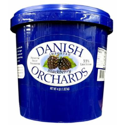 Danish Orchards Preserves BLACKBERRY Premium Fruit 4LB. (Single)