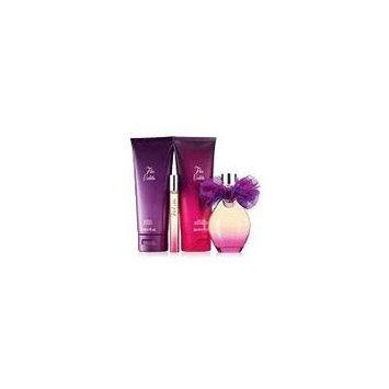 Flor Violeta Gift Set Eau De Parfum Spray 1.7 fl oz, Eau De Parfum Rollette 0.34 fl oz, Body Lotion 6.7 fl oz, Shower Gel 6.7 fl oz & FREE fan break apart emory boards