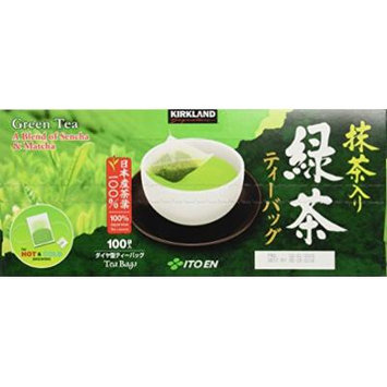 Kirkland Signature Ito En Matcha Blend (Green Tea), 100% Japanese Green Tea 100 count (Pack of 2)