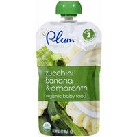 Plum Organics Stage 2 Fruit & Grain - Zucchini Banana & Amaranth - 3.5 oz - 6 pk