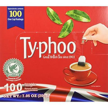 Typhoo String and Tag Tea Bags, 100 Count