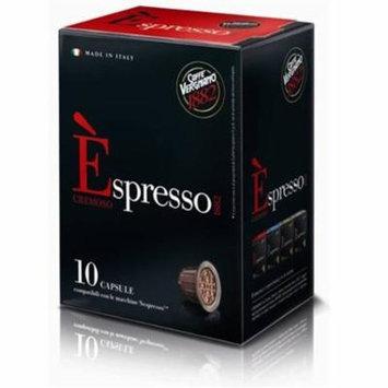 10 Biodegradable Èspresso Capsules by Caffe Vergnano, Nespresso Compatible (Cremoso)