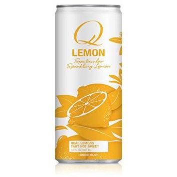 Q Drinks, Q Lemon, Sparkling Lemon Soda, 12 Ounce Slim Can (Pack of 12)