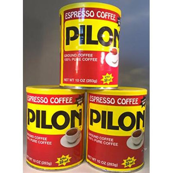 Three-Pack Cafe Pilon Espresso Coffee - 10 oz Cans - South Florida's Favorite Espresso Coffee