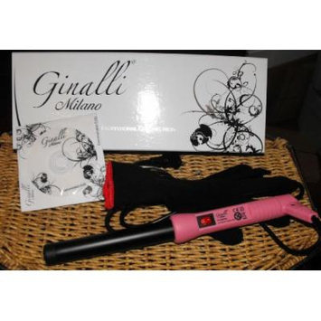 Ginalli Milano Professional Clipless Curling Iron 19mm Dual Voltag Pink +Heat Resistant Plastic Cap Including Dvd& Glove
