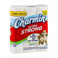 Charmin Ultra Strong Bathroom Tissue, 9 Faimily Rolls, 209 2-ply sheets Per Roll