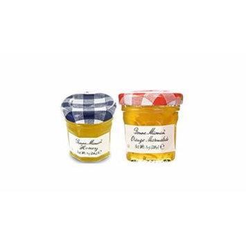 Bonne Maman Duo Mini Jars - 1 Oz X 30 Pcs (15 Orange, 15 Honey)