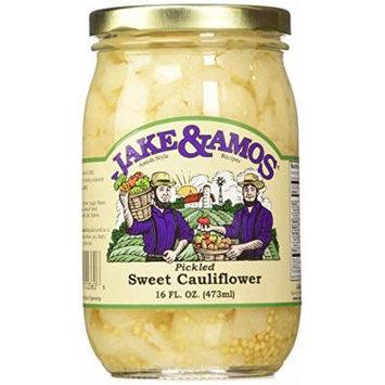 Jake & Amos Pickled Sweet Cauliflower, 16 Oz. Jar (Pack of 2)
