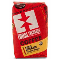 Equal Exchange Organic Coffee, French Roast, Whole Beans, 10 Ounces