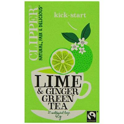 Clipper Fairtrade Green Tea with Lime and Ginger 20 Tea bags