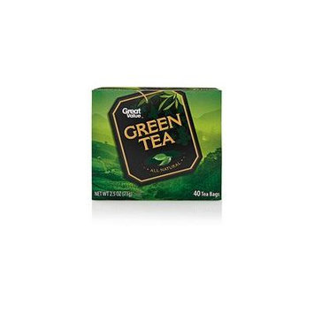 Great Value Green Tea Tea Bags, 40ct(Case of 2)