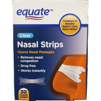 Equate Clear Nasal Strips, 30ct, Compare to Breathe Right Clear Nasal Strips