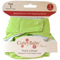 CuteyBaby That's a Wrap Diaper Cover, Solid Lime, Large