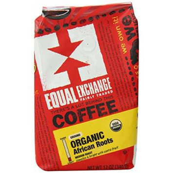 Equal Exchange Organic African Roots Blend Ground Coffee, 12 Ounce (Pack of 6)