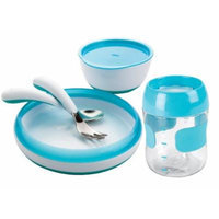 OXO Tot 5 Piece Feeding Set - Aqua