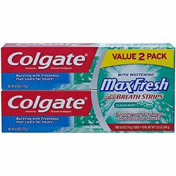 Colgate Max Fresh Cool Mint Toothpaste with Mini Breath Strips 6 oz. (3-Pack)