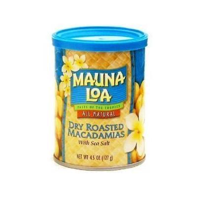 Hawaiian Lunch Bag Gift Basket Mauna Loa Dry Roasted Macadamia Nuts & Sea Salt 6 Cans #10