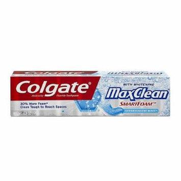 Colgate MaxClean SmartFoam with Whitening Anticavity FluorideToothpaste, Effervescent Mint 6 oz (170 g)