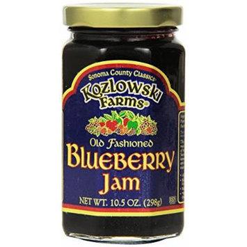 Kozlowski Farms Jam, Blueberry, 10.5-Ounce (Pack of 6)