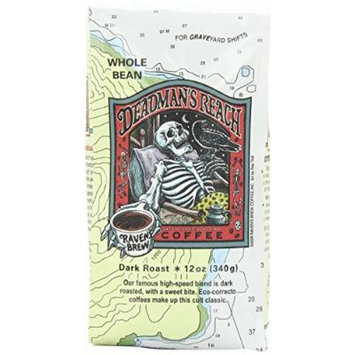 Raven's Brew Whole Bean Deadman's Reach,Dark Roast 12-Ounce Bags (Pack of 1)