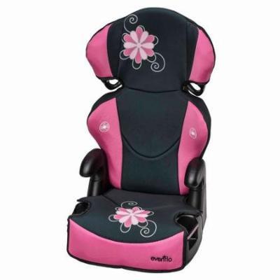 Evenflo Big Kid Sport High Back Booster Car Seat, Danica, Pink