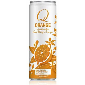 Q Drinks, Q Orange, Sparkling Orange Soda, 12 Ounce Slim Can (Pack of 12)
