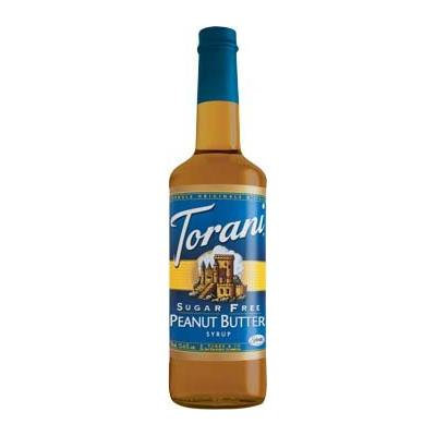 Torani Syrup, Sugar Free, Peanut Butter, 750-ML (Pack of 3)