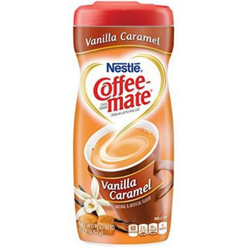 Coffee-mate Vanilla Caramel Powdered Coffee Creamer, 15-Ounce Packages (Pack of 6)